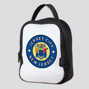 Jersey City New Jersey Neoprene Lunch Bag
